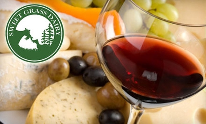 Sweet Grass Dairy - Thomasville: $10 for $20 Worth of Wine and Cheese at Sweet Grass Dairy in Thomasville