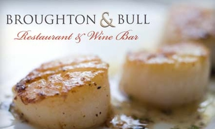 Broughton & Bull Restaurant and Wine Bar - Historic District - North: $17 for $35 Towards Upscale Southern Fare at Broughton & Bull Restaurant & Wine Bar (or $6 for $12 Towards Lunch)