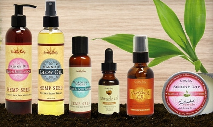 Earthly Body - Multiple Locations: $20 for $75 Worth of Natural Skin and Body Products at Earthly Body