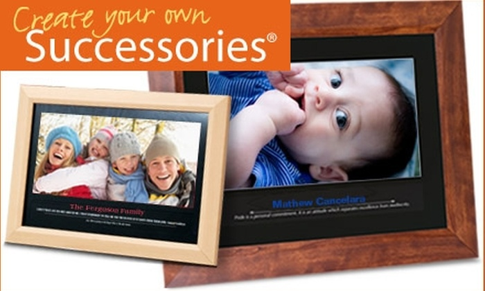 "Create Your Own Successories: $60 for a Framed, Personalized 24""x19"" Wall Print from Create Your Own Successories (Up to $130 Value)"