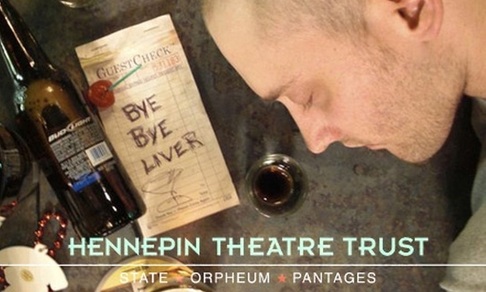 """Actors Theater of Minnesota - Downtown West: $9 for a Ticket to """"Bye Bye Liver"""" at Hennepin Stages ($19.50 Value). Four Dates Available."""