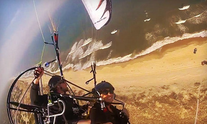 Paramotor Tours - Beverly: Up to 30-Minute Paragliding Adventure for One or Two from Paramotor Tours in Beverly (Up to 67% Off)
