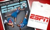 "ESPN Magazine: $13 for a One-Year Subscription to ""ESPN The Magazine"" Plus an ESPN T-shirt ($26 Value)"