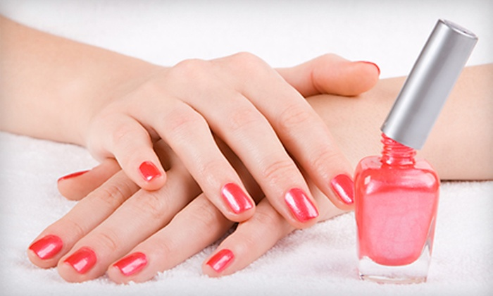 Maria Mock at Simply Irresistible - Adams Nel: Two Pedicures or Two Shellac Spa Manicures with Maria Mock at Simply Irresistible in Round Rock (Up to 51% Off)