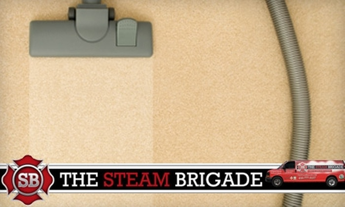 The Steam Brigade - Baltimore: $69 for a Three-Room and One Hallway Steam Cleaning from The Steam Brigade ($139.95 Value)