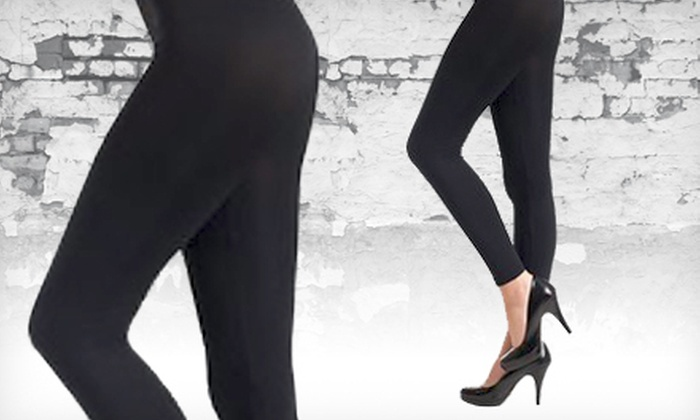 Seamless Black Cotton Leggings: $9 for a Pair of FashionMIC Seamless Black Cotton Leggings ($19.99 Value)