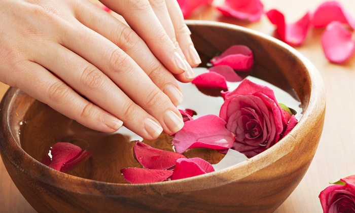 Mylandre Spa & Salon - Downtown Alexandria: Mani-Pedi or a Hot-Stone Massage with a Microdermabrasion Facial at Mylandre Spa & Salon (Up to 58% Off)
