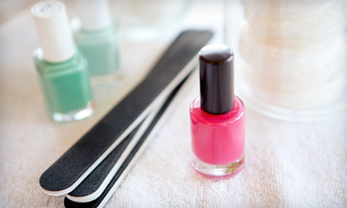 Happy Salon & Spa - Eastside: One or Two Luxury Mani-Pedis or One Luxury Mani-Pedi with a Reflexology Treatment at Happy Salon & Spa (Up to 58% Off)