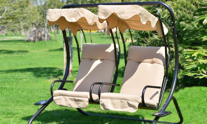 Two Seater Garden Swing Chair Groupon Goods
