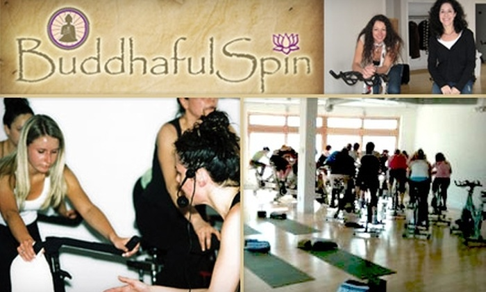 Buddhaful Spin - Cleveland Heights: $30 for Five Spynga, Yoga, or Spinning Classes at Buddhaful Spin ($65 Value)
