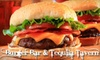 Burger Bar & Tequila Tavern - Downtown Toronto: $9 for $20 Worth of Burgers and Booze at Burger Bar & Tequila Tavern