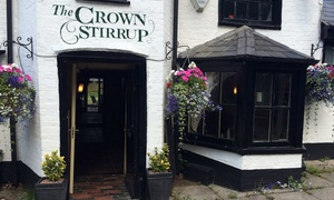 The Crown Stirrup Pub: Two-Course Meal for Two or Four at The Crown Stirrup (53% Off)