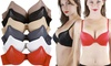 6-Pack of Full Cup Pushup Bras with Rhinestone Accents: 6-Pack of Full Cup Pushup Bras with Rhinestone Accents