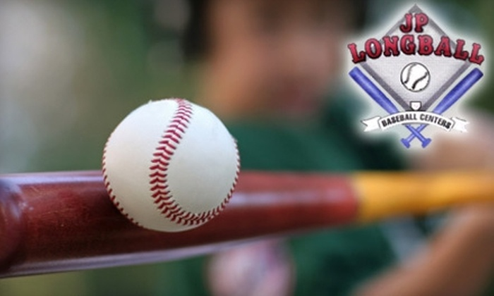 JP Longball - Morena: Two 30-Minute Baseball/Softball Lessons or One Hour of Batting-Cage Time at JP Longball (Up to $78 Value). Choose from Two Options.