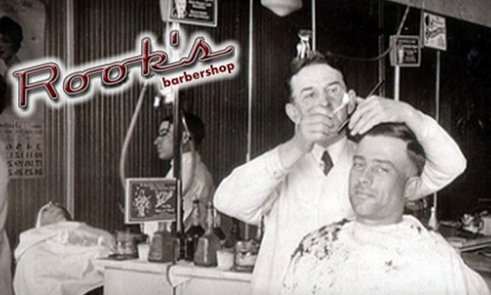Rook's Barbershop - Grant Park: $24 for Two Haircuts or One Haircut and One Hot-Towel Straight-Razor Shave at Rook's Barbershop ($48 Value)