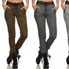 French Terry Joggers with Faux Leather Trim