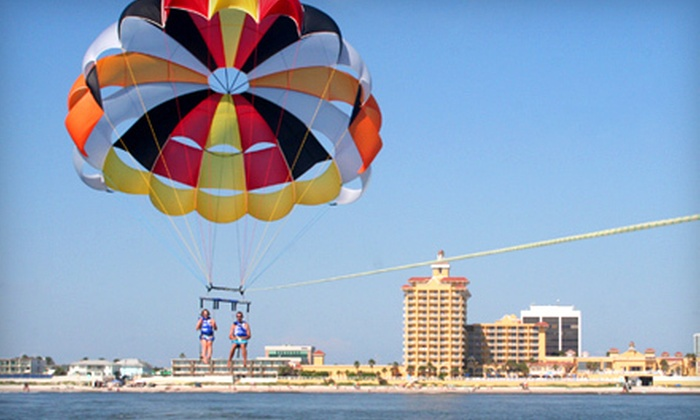 Daytona Beach Parasail - Ponce Inlet: Solo or Tandem Parasail Ride from Daytona Beach Parasail (Up to 53% Off)