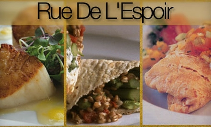 Rue De L'Espoir - Fox Point: $20 for $40 Worth of Fare and Drinks at Rue De L'Espoir