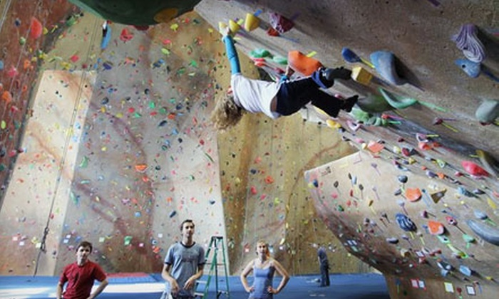 Central Rock Gym - North Lincoln Street: Introductory Climbing Package with Two-Week Membership or $25 for $50 Worth of Climbing Services at Central Rock Gym