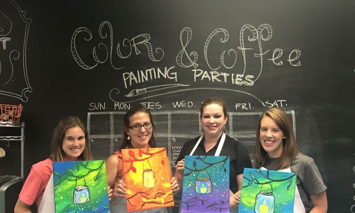 Color and Coffee Painting Parties - South Peace Haven: Three-Hour Painting Lesson at Color and Coffee Painting Parties (20% Off)