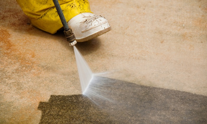 New York Power Wash Inc. - Bethpage: Standard or Premium Commercial Sidewalk Power Clean with Gum Removal from New York Power Wash Inc. (50% Off)