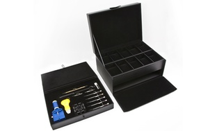 10 Pc. Black Leather Watch Storage Case