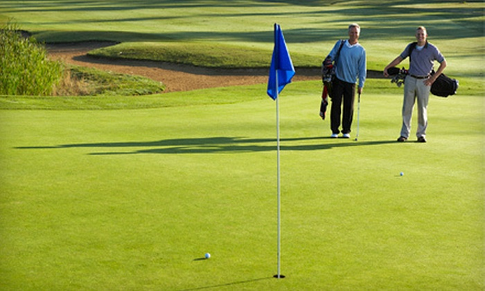 Chesapeake Bay Golf Club - Abbotsford: 18-Hole Golf Package for Two or Four with Cart Rental and Beer at Chesapeake Bay Golf Club (Up to 66% Off)