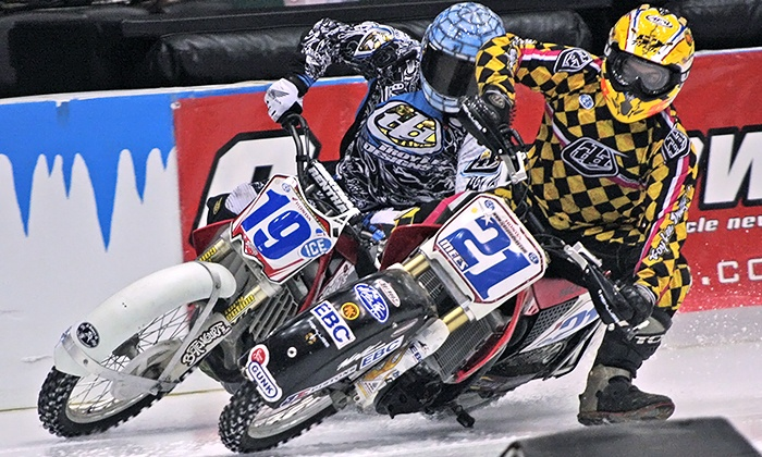 World Championship Ice Racing - Maverik Center: $8 for World Championship Ice Racing at Maverik Center on December 5 or 6 (Up to $19.60 value)