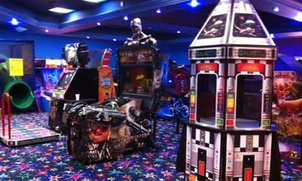 Laser Tag Packages with Arcade Tokens and Pizza for Two or Four at Galaxy Zone (47% Off)