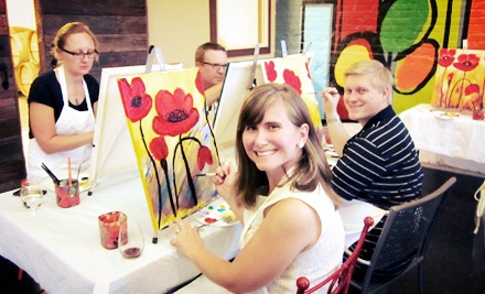 Painting Class with a Glass of Wine or Beer for Two from Spellbound Art (50% Off)