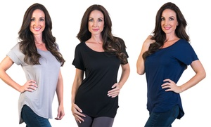 Agiato Women's Short-Sleeved Tunics (3-Pack) at Agiato Women's Short-Sleeved Tunics (3-Pack), plus 9.0% Cash Back from Ebates.