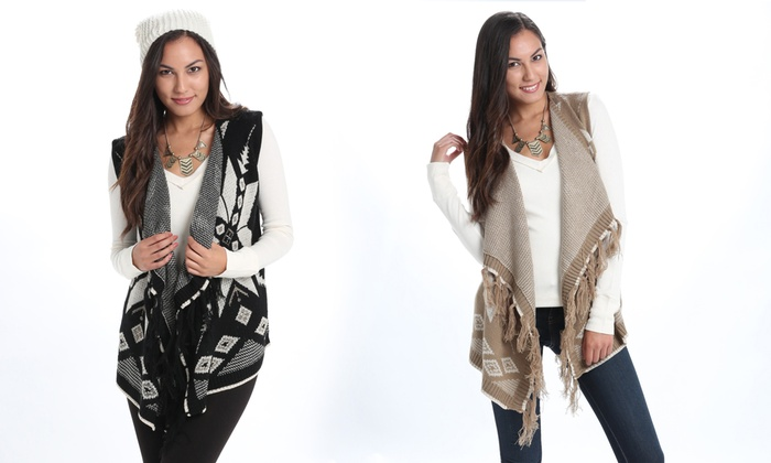 Women's Open-Front Sweater Vest | Groupon