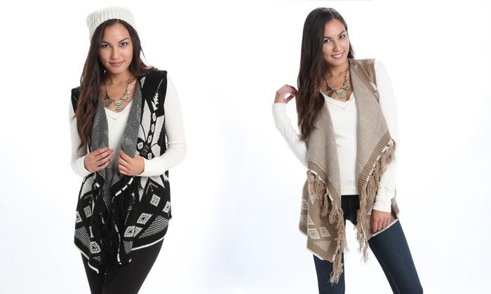 Women's Open-Front Sweater Vest | Groupon