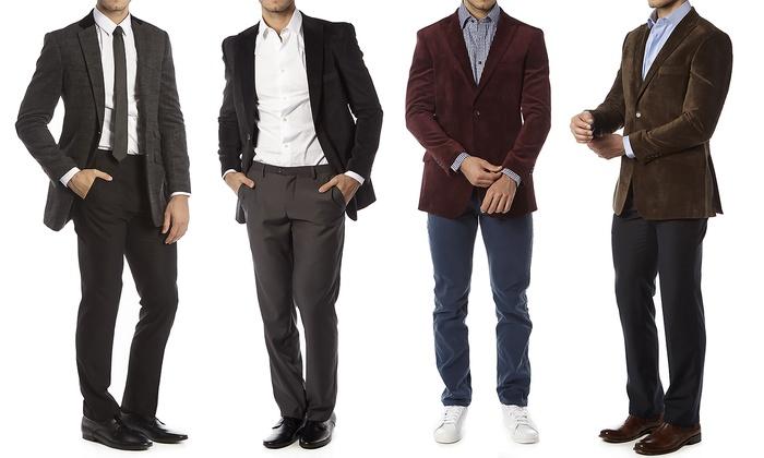 Alberto Cardinali Men's Tailored Fit Sports Blazer