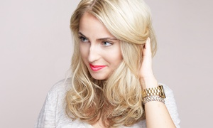 Meghan at MJ Salon & Color Group: Haircut Package with Conditioning Treatment, Style, and Optional Highlights at MJ Salon and Color (Up to 61% Off)