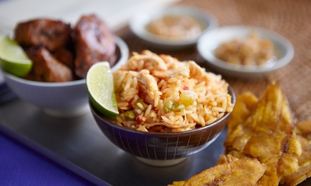 $12.75 Towards Caribbean Food for Takeout or Dine-In When Available at Caraibe Creole