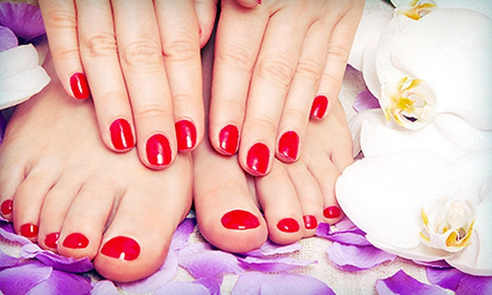 Face Enhancements - Richmond Heights: One or Two Shellac Manicures with Spa Pedicures at Face Enhancements (Up to 65% Off)