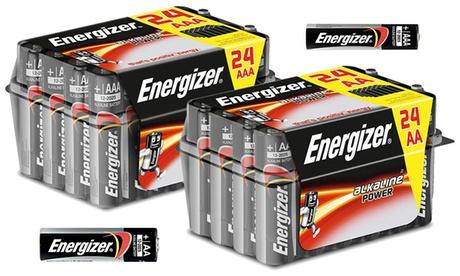 1 o 2 packs de 24 pilas alcalinas AA o AAA de Energizer