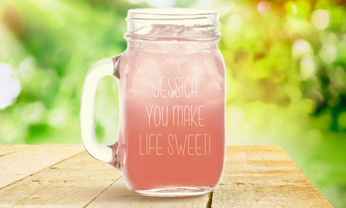 Monogram Online: $9.99 for a Personalized Glass Jar from Monogram Online ($29.99 Value)