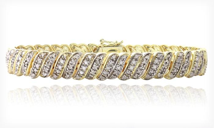 Diamond Tennis Bracelet: $58.99 for a 1-Carat Diamond Tennis Bracelet ($350 List Price). Free Shipping and Free Returns.