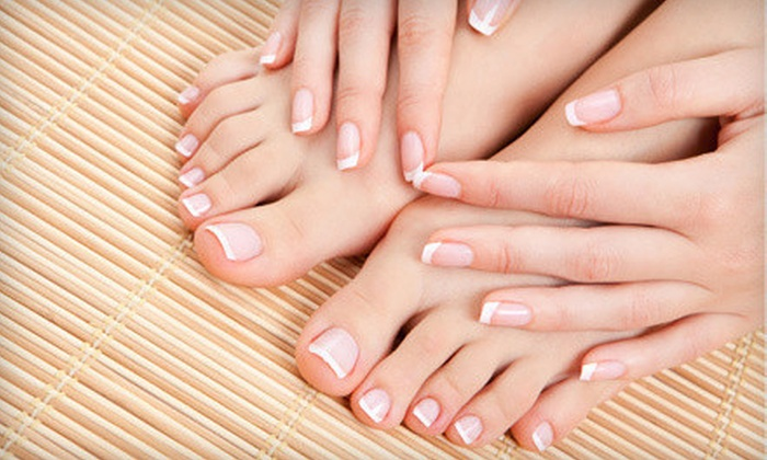 Blades Salon & Day Spa - College Park: Shellac Manicure, Spa Pedicure, or Shellac Manicure and Spa Pedicure at Blades Salon & Day Spa (Up to 60% Off)