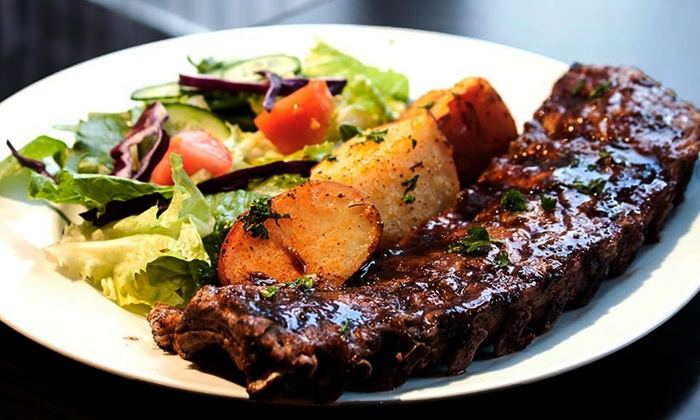 L.A. Grill - Vancouver: Dinner for Two with Two Soups, Salads and Entrees on Weekdays or Weekends at L.A. Grill & Bistro (Up to 47% Off)