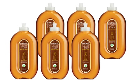 Method Almond-Scented Squirt and Mop Wood Cleaner; 6-Pack of 25 fl. oz. Bottles + 5% Back in Groupon Bucks.