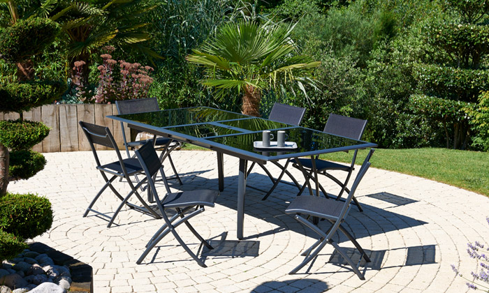 awesome table de jardin pliante avec trou pour parasol gallery amazing house design. Black Bedroom Furniture Sets. Home Design Ideas