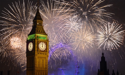 7-Day New Year's Eve Vacation in London with Airfare from go-today. Price/Person Based on Double Occupancy.