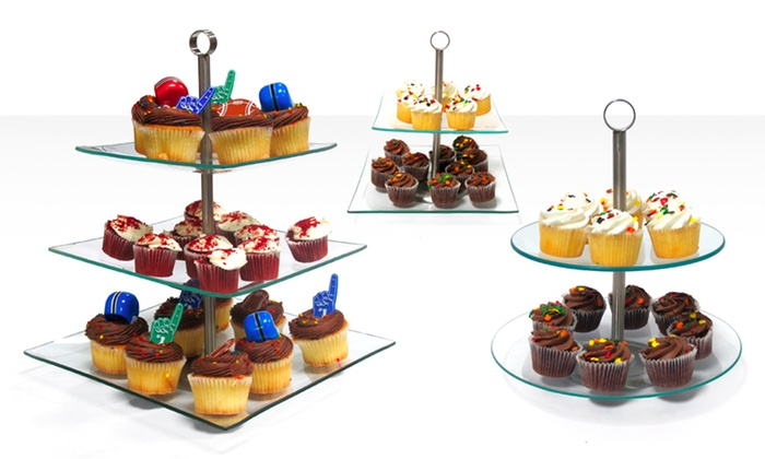 Tiered Cupcake and Dessert Stands: Two- or Three-Tier Cupcake and Dessert Stands (Up to 63% Off). Multiple Styles Available. Free Returns.