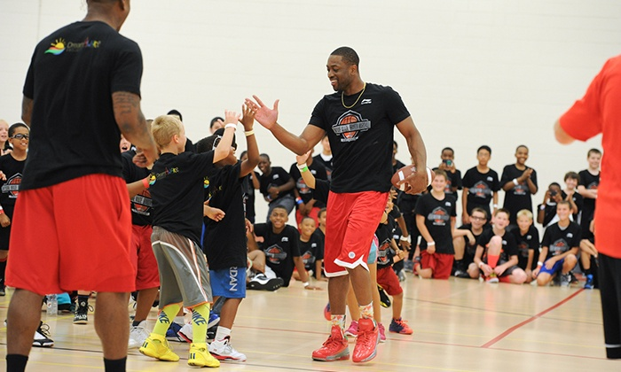 JD STYLE Group: Kids' Two-Day All-Day Basketball or Cheerleading Camp Featuring Dwyane Wade (Up to 48% Off)