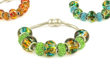 Bracelets with Swarovski Elements and Murano Beads