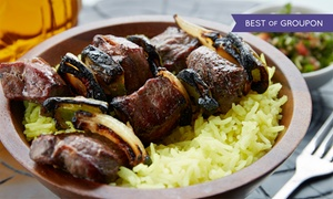 Cedars of Lebanon Restaurant: $15 for $30 Worth of Middle Eastern Dinner Entrees at Cedars of Lebanon Restaurant