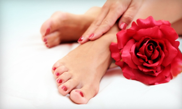 Hair Network - River East: One or Two Mani-Pedis at Hair Network (Up to 54% Off)